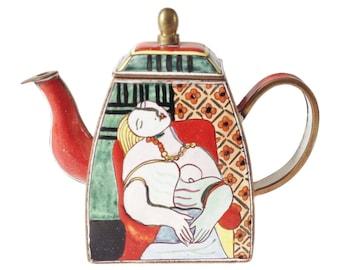 charlotte di vita teapot the kiss gustav klimt miniature. Black Bedroom Furniture Sets. Home Design Ideas