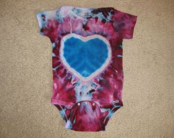 tie dye baby, tie dye, onesie, tie dye onesie, 18 months