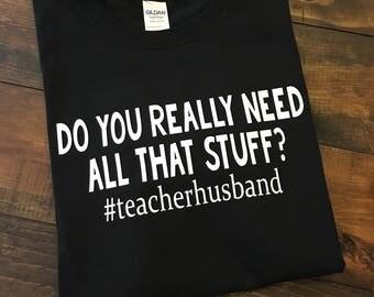 Teacher Shirts, Teacher Husband Shirt, Funny Teacher T-Shirt, Teacher T-Shirt, Teacher Gift, Funny Teacher Shirts, Marry A Teacher, Teacher