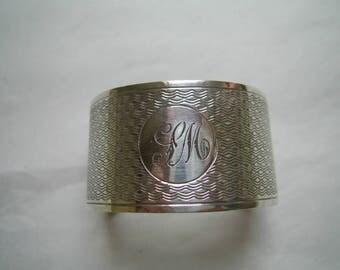 Good Quality Antique SILVER NAPKIN RING Hallmarked Birmingham 1936