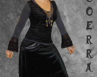 Top and harem pants 'Black and grey' set '