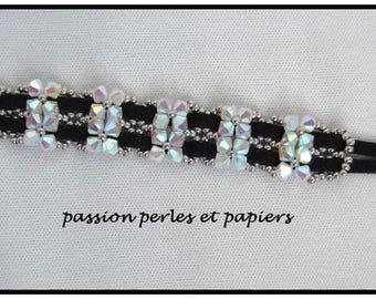 Black Suede and Crystal bracelet