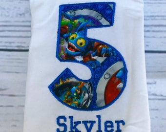 Skylanders Birthday Shirt- Ships Fast!
