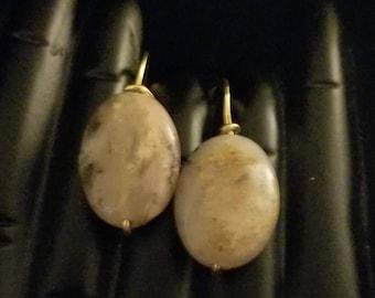 Pink Peruvian Opal Earrings