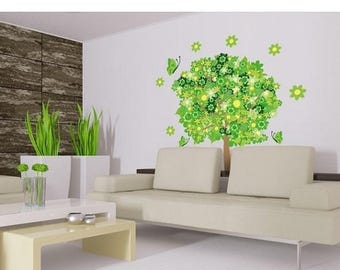 25% OFF 4th of July Sale Flower Tree II floral wall decal, sticker, mural, vinyl wall art