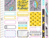Too Glam VARIETY Decorating Kit / Weekly Spread Planner Stickers for Erin Condren Planner, Filofax, Plum Paper