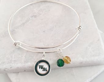 William and Mary Bangle Bracelet, William & Mary Key Chain, William and Mary Griffins, William and Mary Gifts, Graduation Gifts
