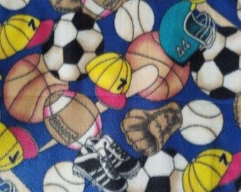 Sports Balls Antipill Fleece Fabric Sold by the Yard