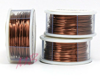 26 ga Tarnish Resistant Antique Copper Wire, Crafting Wire for Jewelry Making