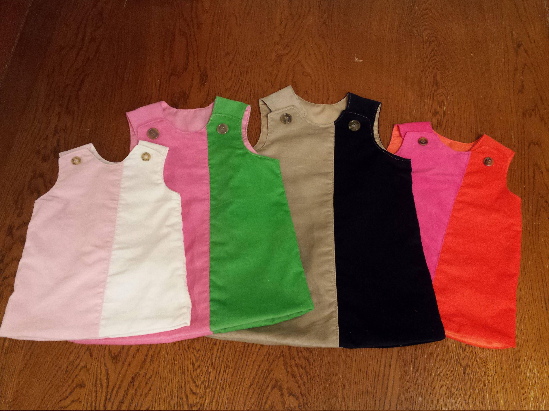 Girls VIVIE Corduroy Jumper made in USA dress Baby Toddler Fall