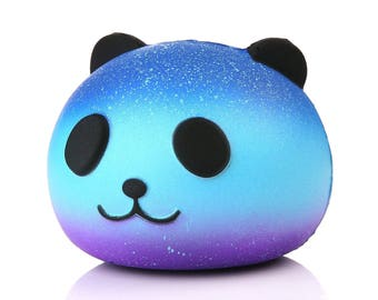 Jumbo Galaxy Panda Squishy Stress Relief Fidget Toy Kawaii Slow Rising Panda Head Collectible Gift for Kids Ombre Squishy