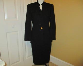 Christian Dior wool skirt suit