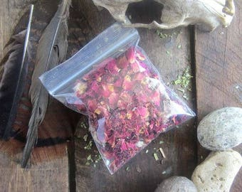 Wildcrafted Red Rose Buds - Whole - Dried