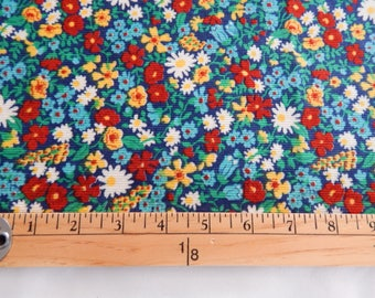 Multi-Colored Floral Corduroy, By The Yard