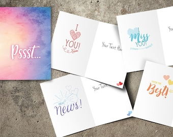 just because card for all occasions, sympathy card, I miss you, I love you, you're the best, great news, encouragement card, ADD MY TEXT