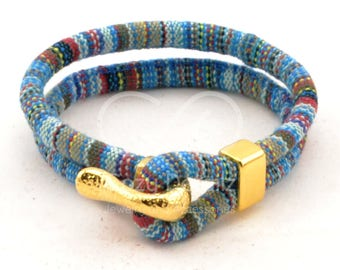 gold ethnic bracelet, trending now multicolor boho bracelet, women ethnic bracelet, women nautical bracelet, gold jewelry, woven bracelet