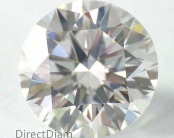 1.76 carat Loose Natural Diamond D VVS2 Round Brilliant Cut GIA Certified Very Big Diameter look like two carat