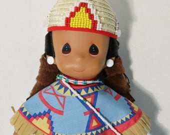 """Precious Moments """"Aquene""""  1994 Native American Indians Doll Collection 12"""" NWT"""