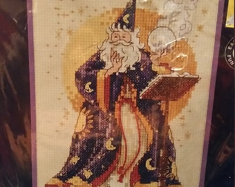 Dimensions, The Sorcerer, 1995 Counted Cross Stitch kit in sealed package