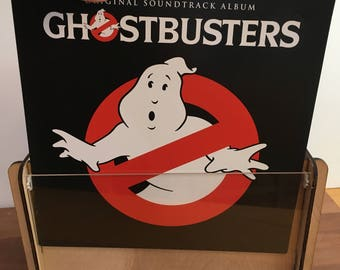 Ghostbusters 30th Anniversary Edition Vinyl Record Soundtrack with Vinyl Record Storage and Display Crate, great gift for brother, boyfriend