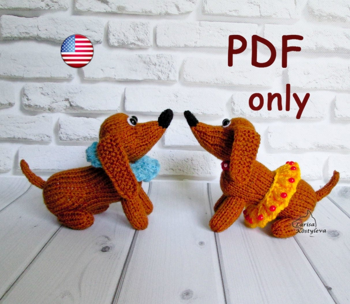 Knitting pattern circus dachshund amigurumi animal dog zoom bankloansurffo Gallery