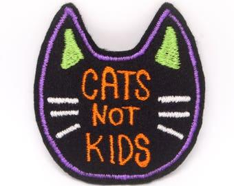 Cats Not Kids Handmade Patch