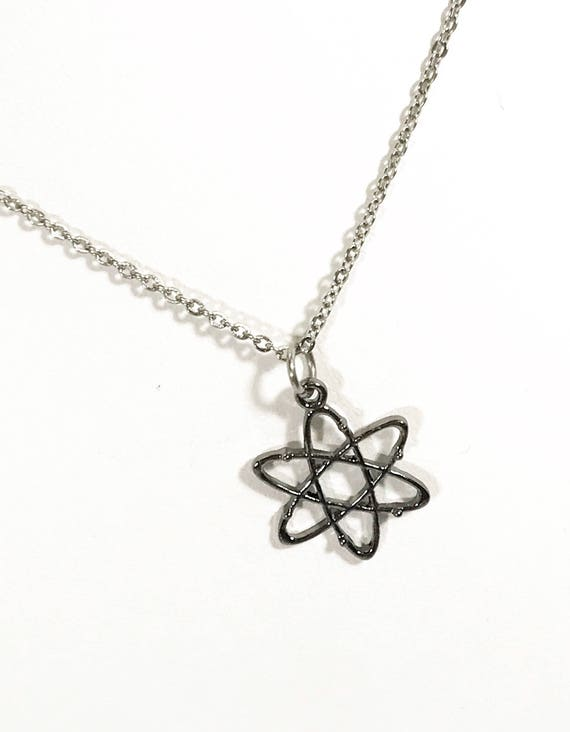 Molecule Necklace, Atom Necklace, Molecule Jewelry, Atom Jewelry, Science Jewelry, Science Gifts, Chemistry Gifts, Nerdy Chemistry Jewelry