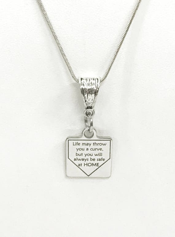Softball Necklace, Safe At Home Necklace, Softball Player Gift, Student Athlete Gifts, Daughter Gifts, Softball Jewelry, Softball Daughter