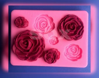 Rose Flower Chocolate Cookie Soap Fimo Polymer Clay Resin Silicone Mold Fondant Cake Decorating Kitchen Accessories