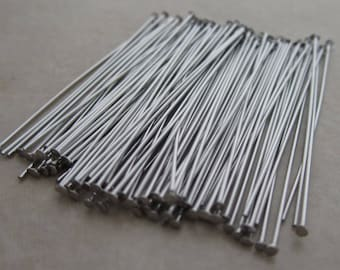 200 stainless steel headpins 1.5 inches 24 gauge