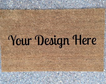 Personalized Doormat • Your Design • Wedding Shower Closing Housewarming Custom Gift