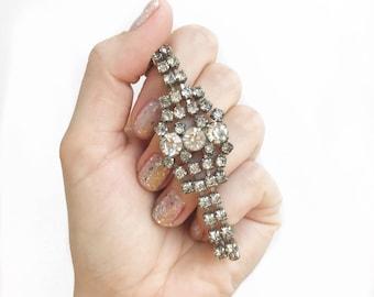 Chunky midcentury sparkling rhinestone bracelet.