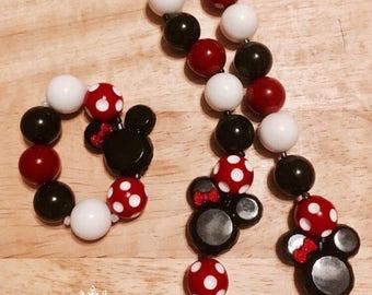 Minnie Mouse necklace set