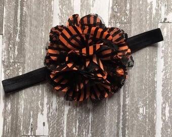 Halloween Soft Headband- Halloween Headband - Halloween Hair Bow - Halloween Bow - Halloween Party - Halloween Costume