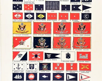Flags of the United States of America USA 1950s Vexillology US state flags Presidents flag navy coast guardartillery colours