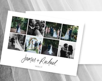 Photo Wedding Thank You Card Printable Cards Template Postcards