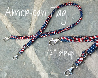 "Adjustable Straps 1"" and 1/2"" - American Flag"