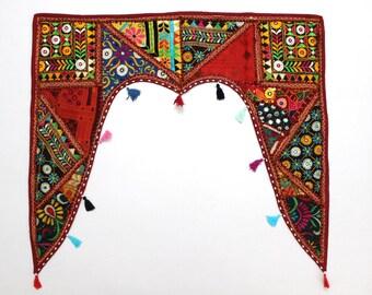 Handmade Window Door Valance Interior Decor Ethnic Gypsy Hippy Hippie Toran Pelmet Topper Drapery Top Hanging Tent Bohemian Art L916