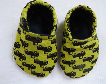 Baby Booties, Baby Shoes, Baby Fabric Shoes, Baby Moccasins, Soft Baby Shoes, Soft-Soled Baby Shoes