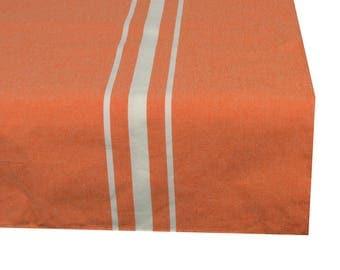 Square tablecloth fabric 150X150cm pastel orange