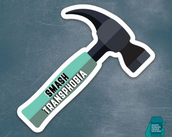 Smash Transphobia Die-cut Vinyl Sticker
