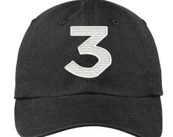 Chance  Number 3  Dad Hat | Chance | Chance Rapper | Chance the Rapper | 3 hat | Chance 3 | Chance Dad Hat | Chance Cap