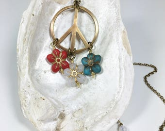 Patriotic Jewelry, Red White And Blue Necklace, Hippie Chic Style