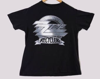 VTG 1990 ZZ TOP Tour T-Shirt - Small - Recycler - 90s - Band Tee - Texas - Houston - Dallas - Rock Shirt - Vintage Tee - Vintage Clothing -