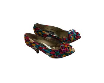 J. Renee Couture Collection Bow Abstract Pumps - Size 7.5 M