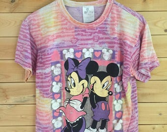 Vintage Disney Shirt // Vintage Mickey and Minnie Mouse Shirt // Vintage The Walt Disney Company Shirt