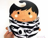 Handmade Soft and Cosy Neck Warmer- Headband- Ear Muffs - Cowl Scarf All in One -