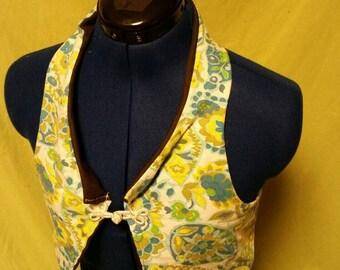 Crop Vest with macrame back. Sz small/medium