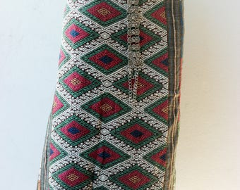 Lao Thai silk textile - sarong decoration style - narrow table runner - silk weaving (Sarong Dress)