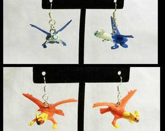Free Shipping Pokemon Earrings, Latios Earrings, Latias Earrings, Dragon Type, Psychic Type Pokemon Earrings, Legendary Pokemon